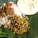 Vazhakoombu Thuvara parippu Thoran / Banana Blossom and Toor dal Stirfry with Coconut