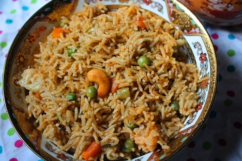 Vegetable Biryani Recipe Vegetable Biryani In Pressure Cooker Restaurant Style Veg Biryani Recipe Yummy Tummy
