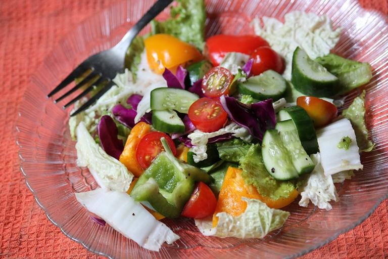 Lettuce Salad Recipe Lettuce Vegetable Salad Recipe Yummy Tummy