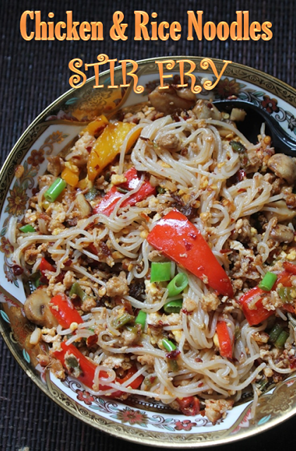 Chicken Rice Noodles Stir Fry Recipe Yummy Tummy