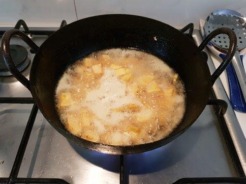 raw banana fry
