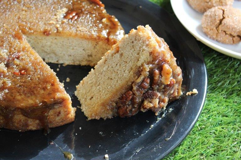 Salted Pecan Pie Cake Recipe