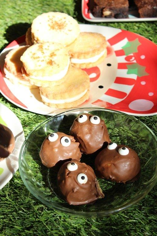 Festive Peanut Butter Balls
