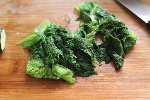 spinach for japchae