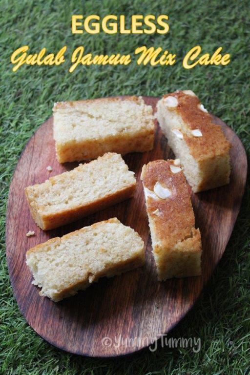 Eggless Gulab Jamun Mix Cake