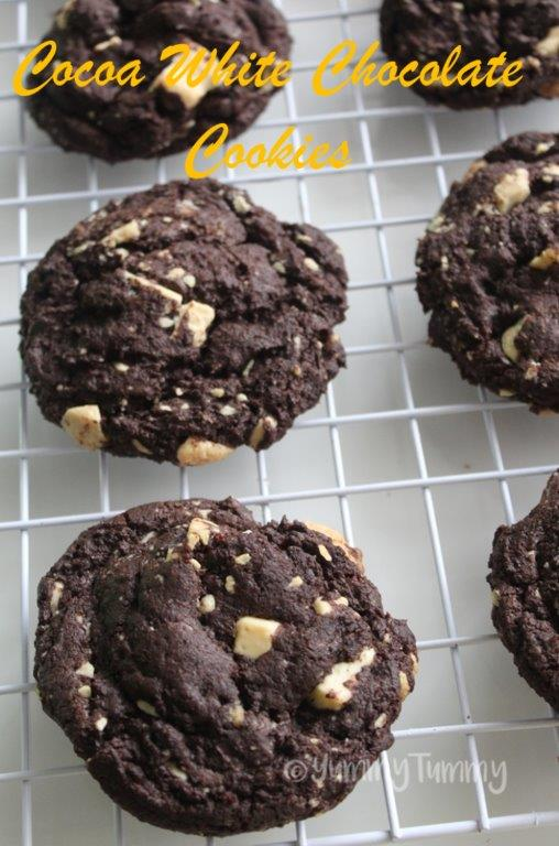 White Chocolate Cocoa Cookies Recipe