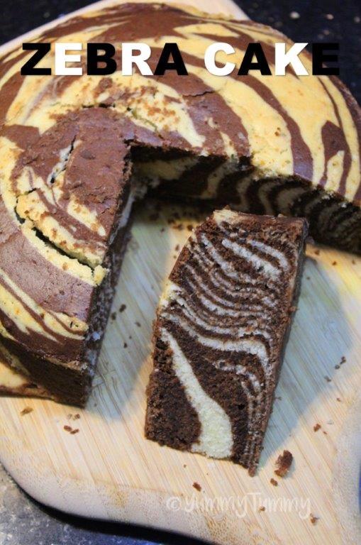 Best Ever Marble Cake - Zebra Cake