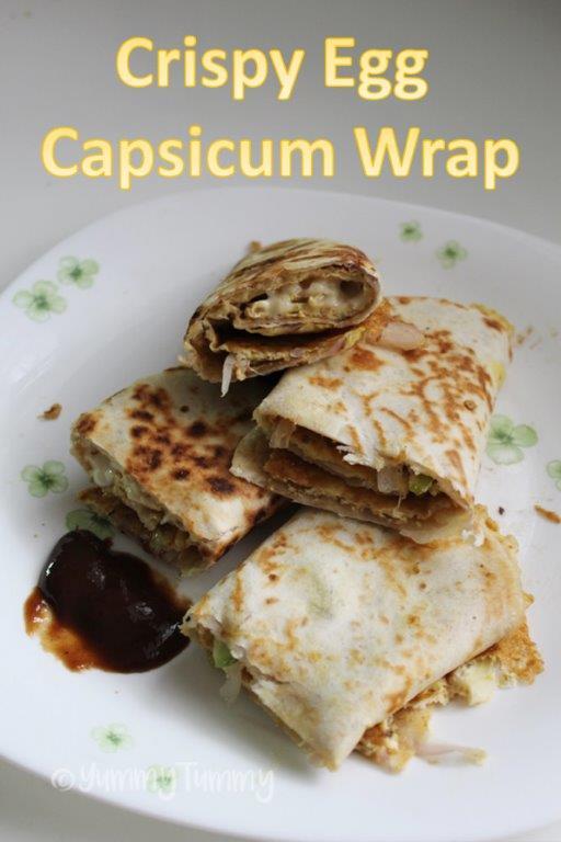 Crispy Egg Capsicum Rolls