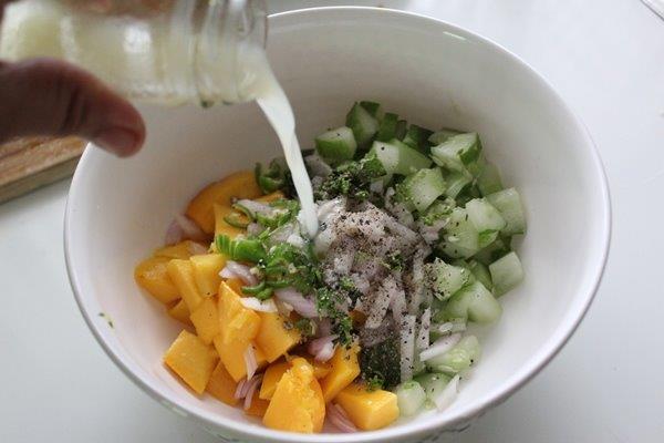 Mango Cucumber Salsa step 7