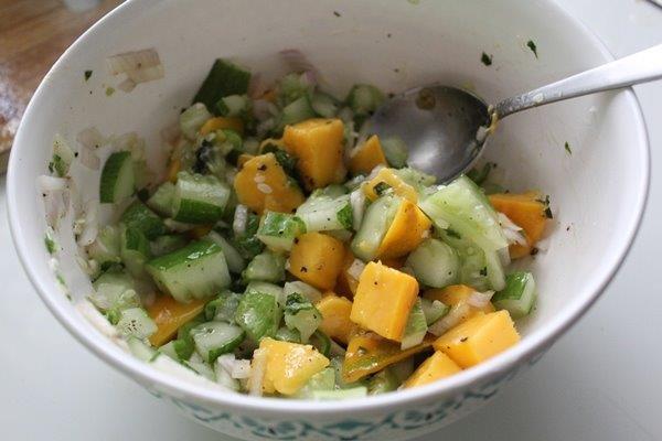Mango Cucumber Salsa step 8