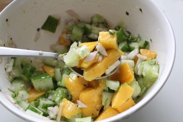 Mango Cucumber Salsa step 9