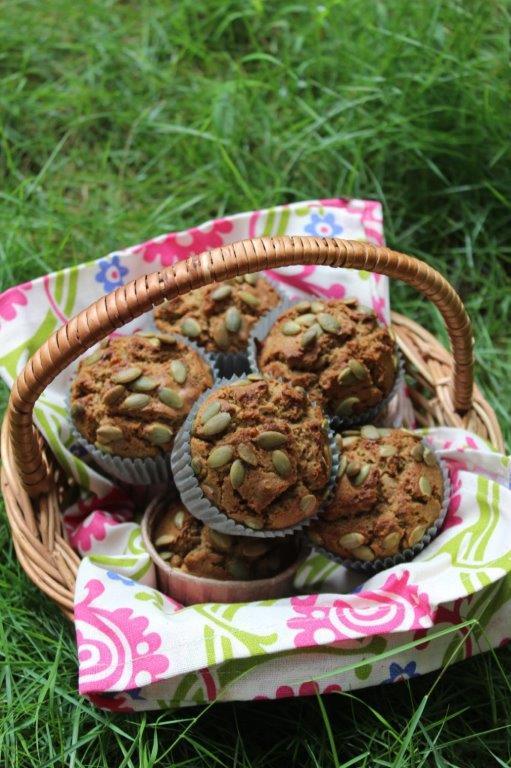Ragi Pumpkin Seed Muffins