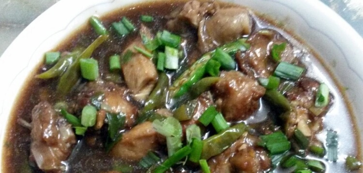 Indo-Chinese Chili Chicken with Gravy