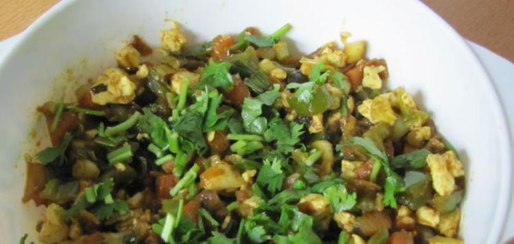 Tofu Bhurjee / Spicy Tofu Scramble