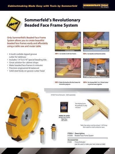 Sommerfeld Beaded Face Frame System   Frameswalls.org