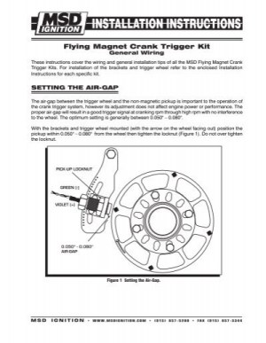 Setting the airgap  MSD Ignition