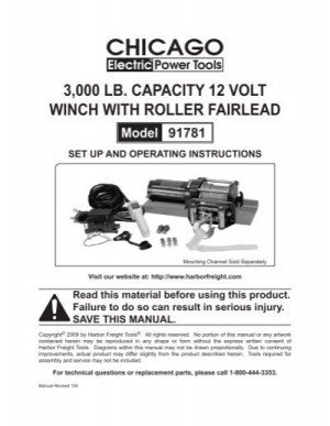 Chicago Electric Winch Replacement Parts   Reviewmotorsco