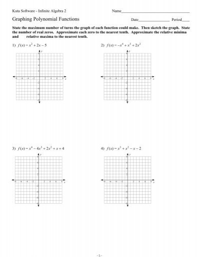 Graphing Polynomial Functions Ks Ia2