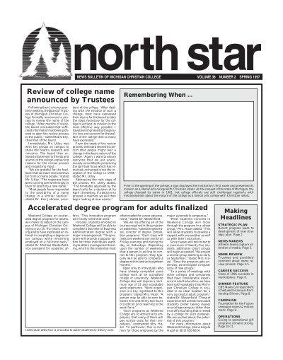 MCC NORTH STAR volunteers
