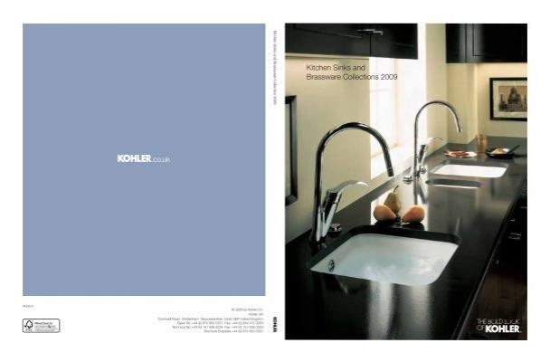 kohler uk brochure the kitchen sink