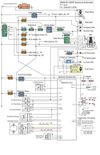 Bmw R Rt Electrical Schematic P 1 Of 3 V1 2 8