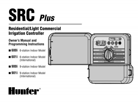 Hunter Irrigation Timer Manual : Watering Equipment