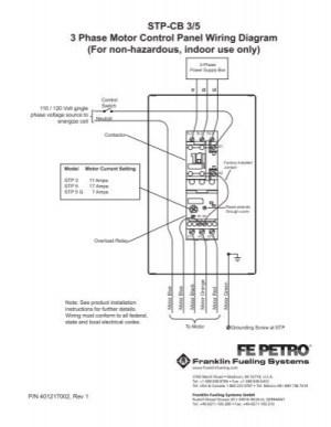 STPCB 35 3 Phase Motor Control Panel Wiring Diagram