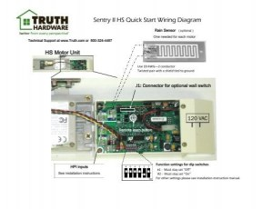Sentry II HS Quick Start Wiring Diagram