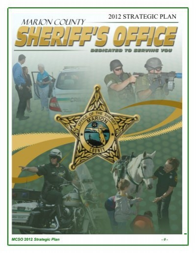excellence of service - Marion County Sheriff's Office