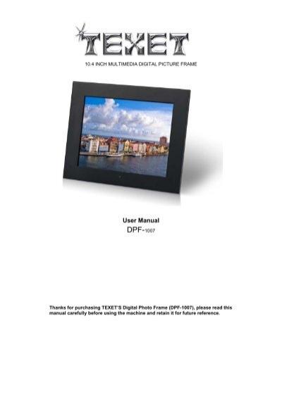 Shintaro Digital Photo Frame Manual   pixels1st.com