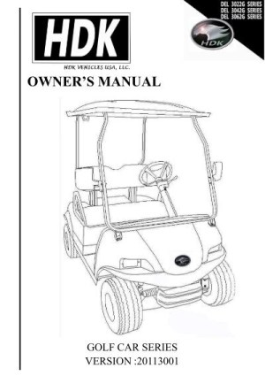 owner's manual golf cart series  HDK Electric Vehicles