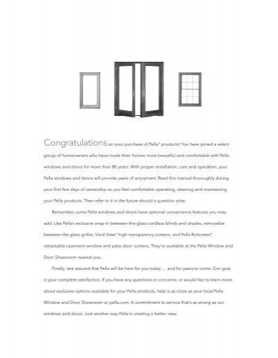 pella wood window and patio door owner