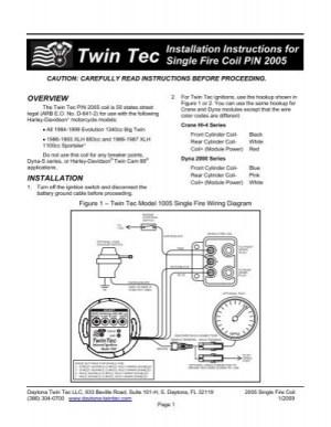 Single Fire Coil Instructions  Daytona Twin Tec