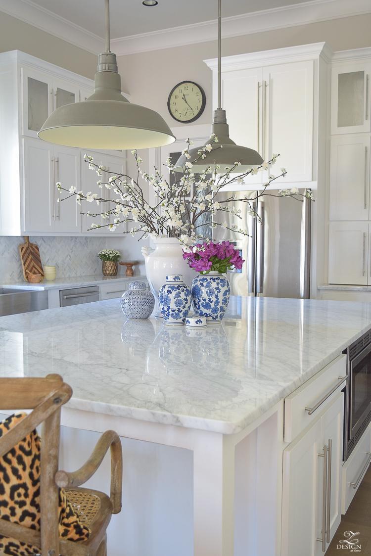 White Kitchen Marble Countertops