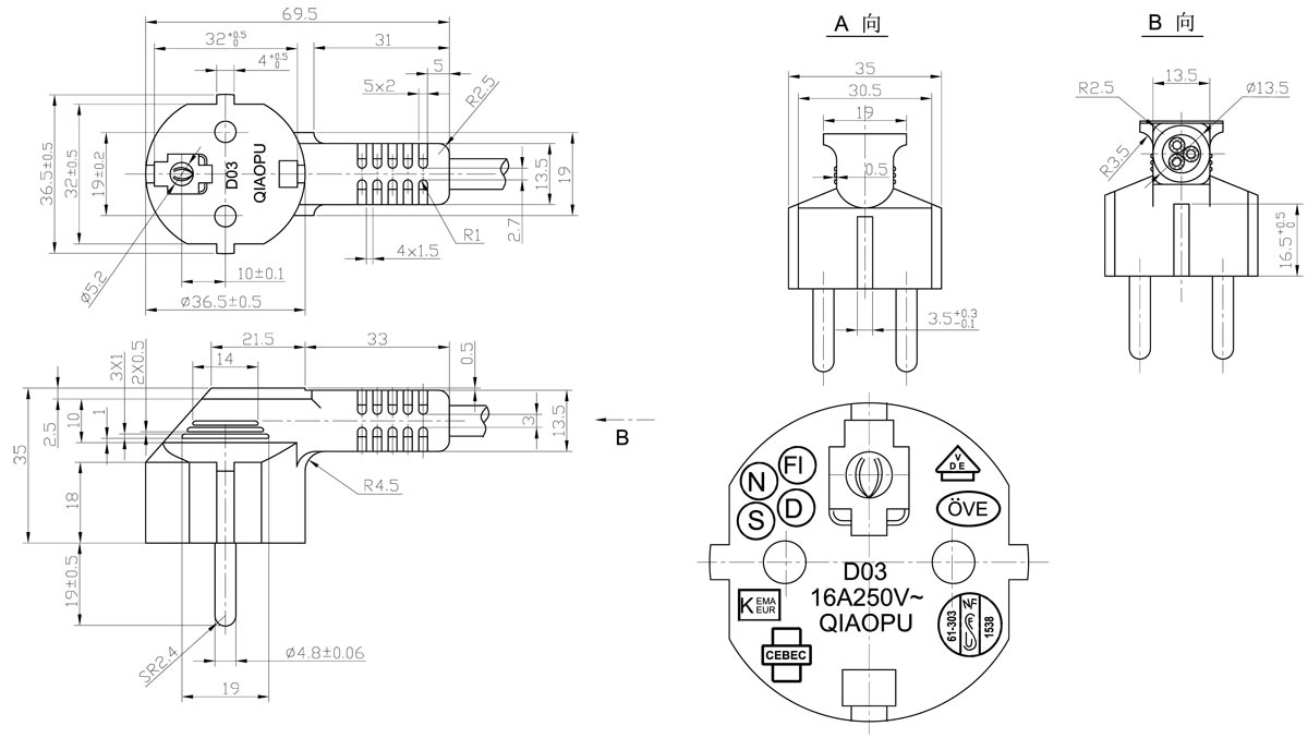 4 Prong Plug Wiring Diagram European
