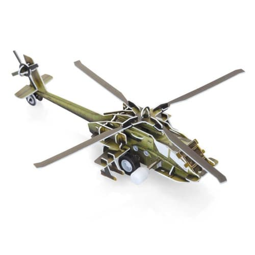 Slot Together Aircraft Model Attack Helicopter