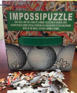 Double Sided Jigsaw Puzzle - Golf Ball & Tees 550 pcs