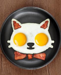 Funny Side Up Cat Egg Shaper