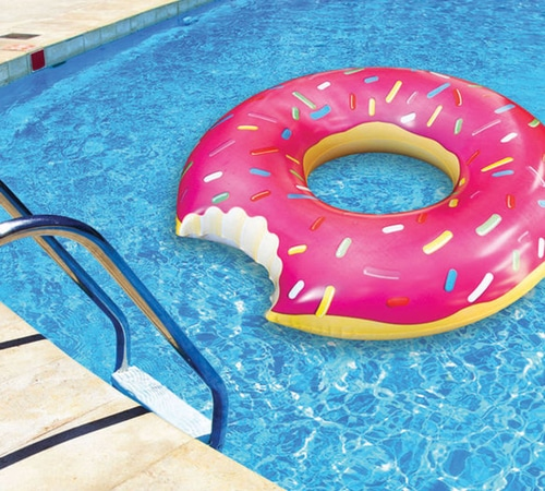 Giant Frosted Strawberry Donut Float
