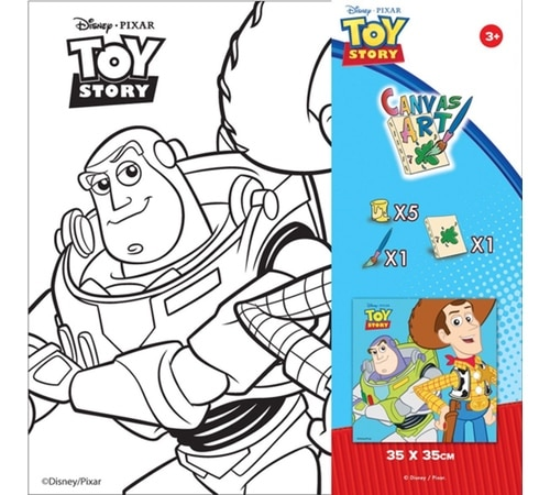 Disney Toy Story Paint Your Own Canvas Art and Craft Kit