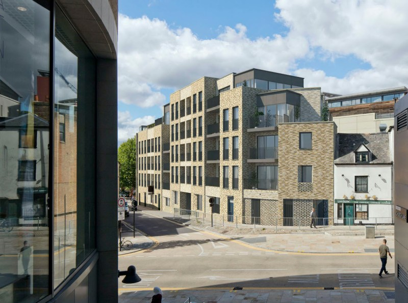 Rendered image of proposed housing on Paradise Street, Oxford