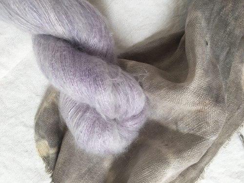 mohair yarn by yurwool botanically hand dyed