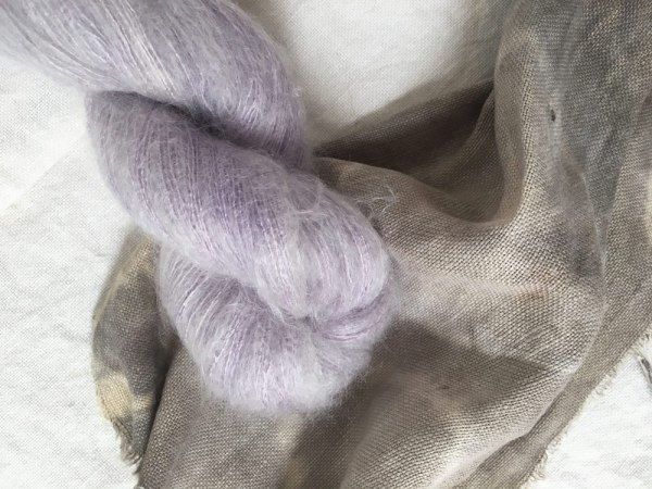mohair yarn by yurwool botanically hand dyed
