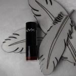 Nyx, nyx cosmetics, lipstock, round, snow white, dwarf, fairytale, swatched-it, lipswatch, lipstick