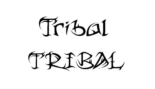 tribal-font
