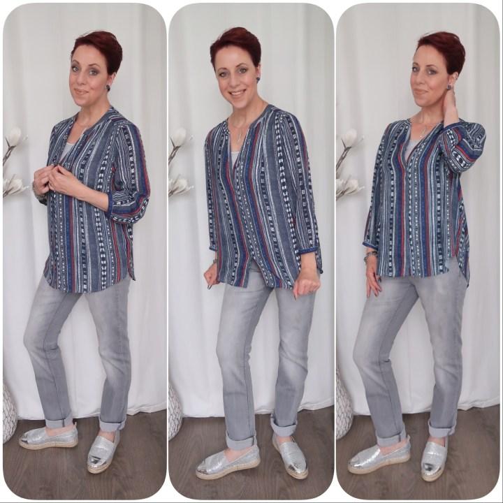 NYDJ Jeans original top blauw blue fashion 40 vrouw