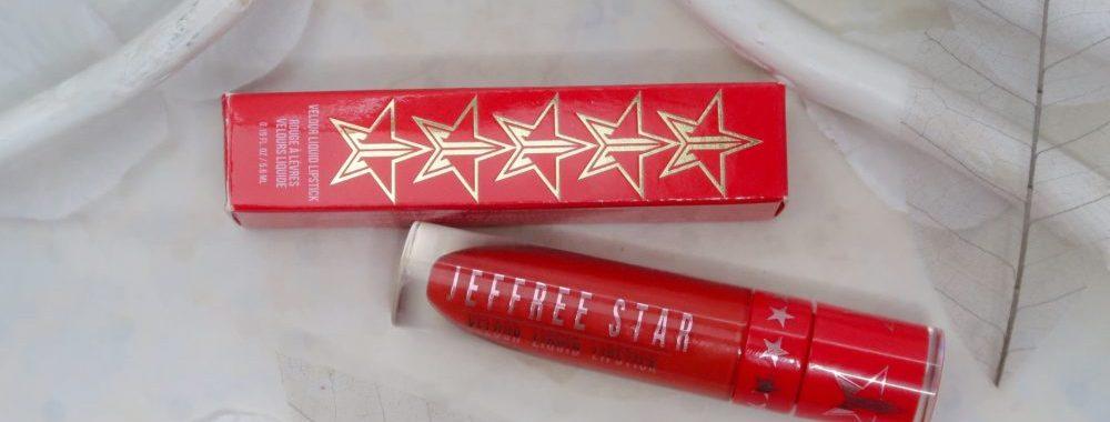 Jeffree, star, red, lipstick, velvet, checkmate, beauty, blog, yustsome