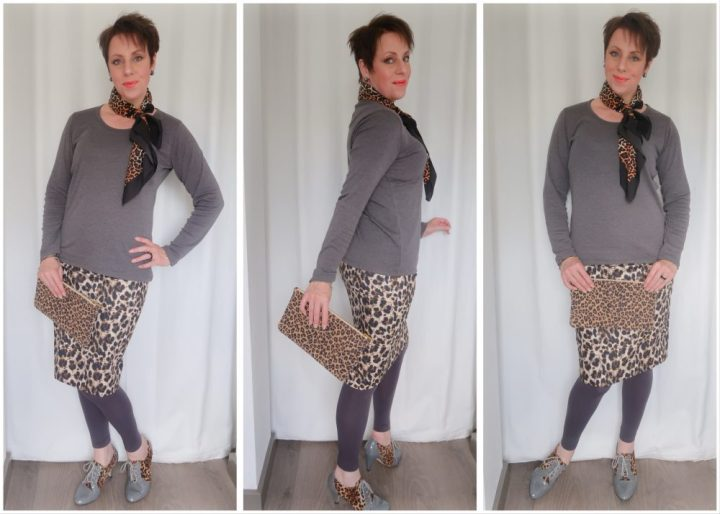 Fashion over 40, fashionblog, blogger, heidi, klum, lidl, skirt, rok, luipaard, panter, dier, print, mode, yustsome
