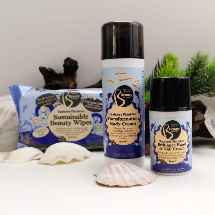 Seahorse, Beauty Kitchen, plankton, blauwe alg, micro, organisme, huid, verzorging, hydratatie, crème, hand, body, Beautykitchen, beautysome