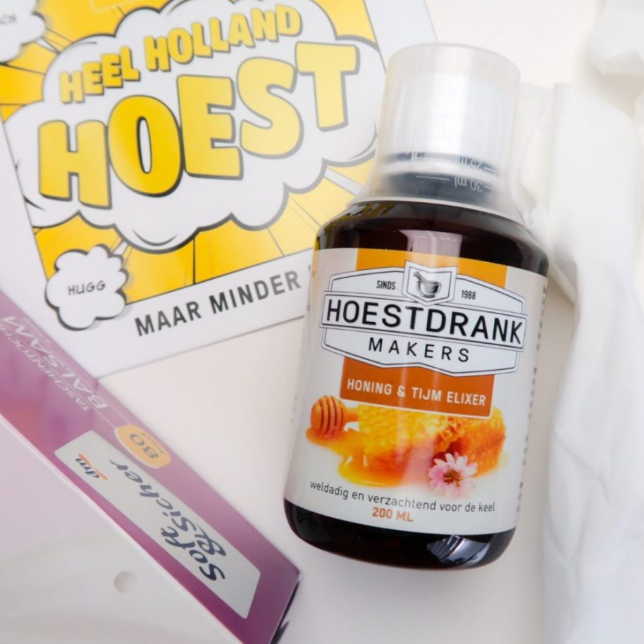 Hoesten, Hoest, hoestdrank, makers, griep, keel, pijn, verkouden, pastilles, elixer, review, beautysome, yustsome, 1